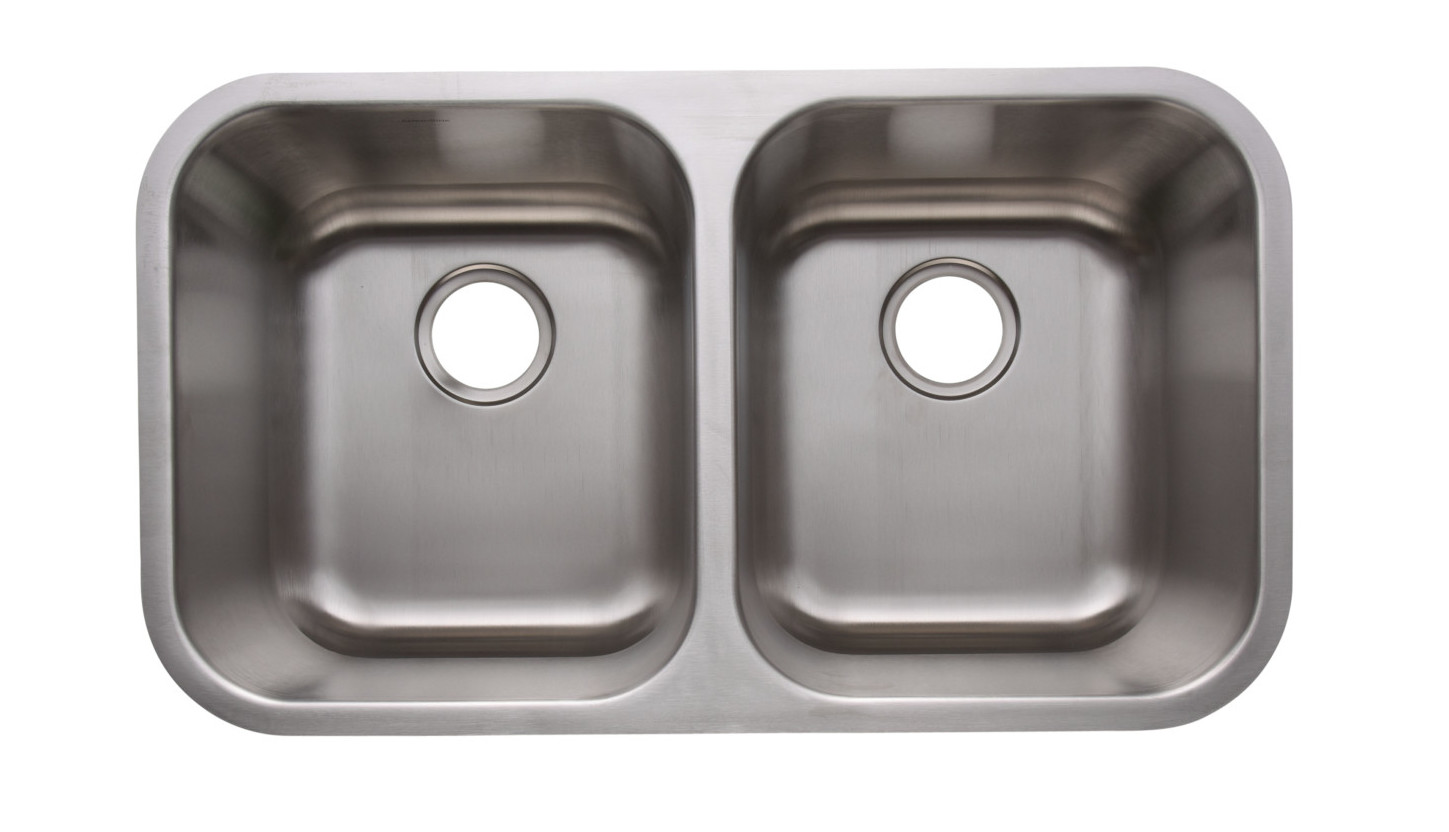 as320 3118 x 18 x 115115 16g double bowl undermount heritage stainless steel kitchen sink - Metal Kitchen Sink