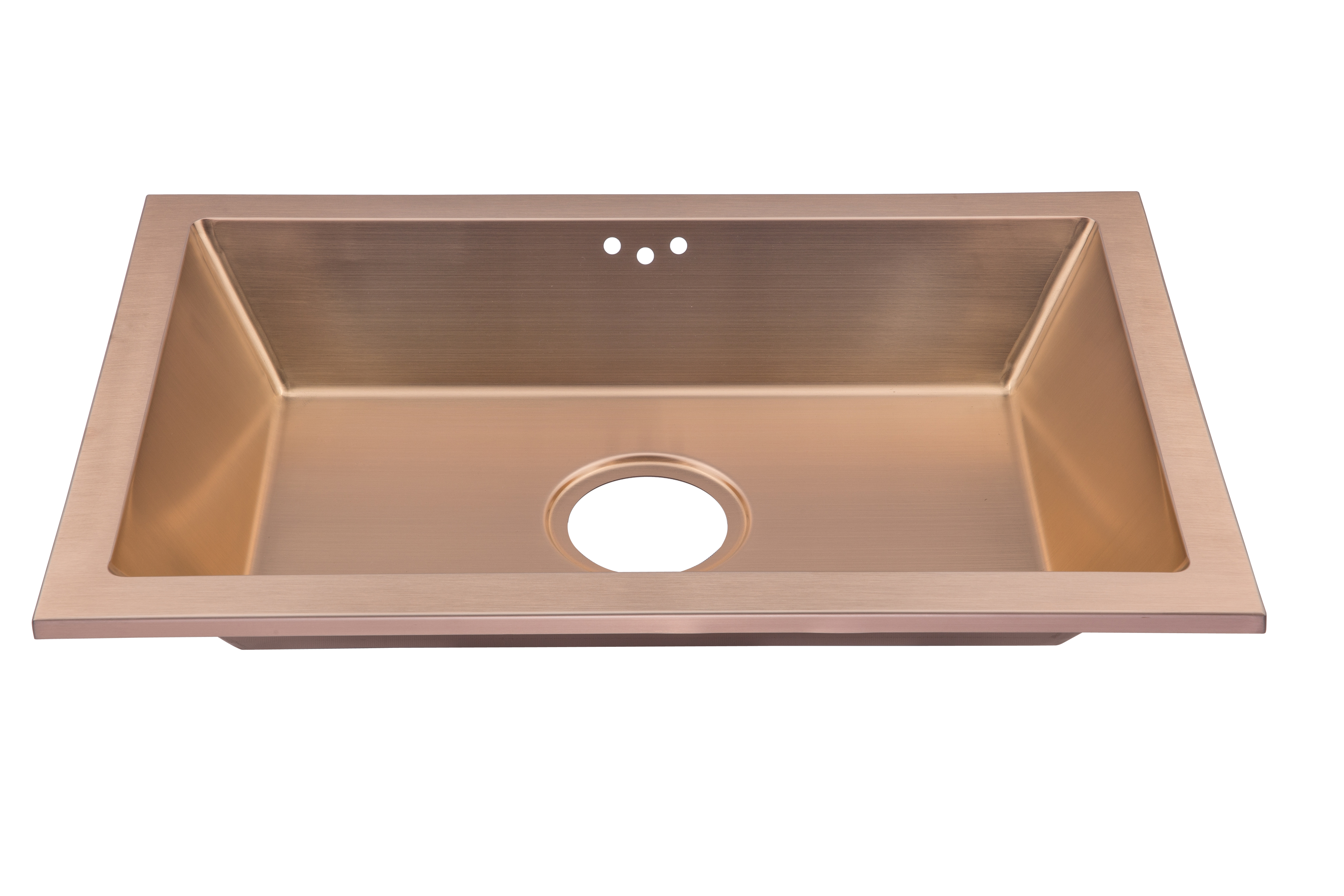 As360s 24 x x 4 18g single bowl dual mount legend for Colored stainless steel sinks