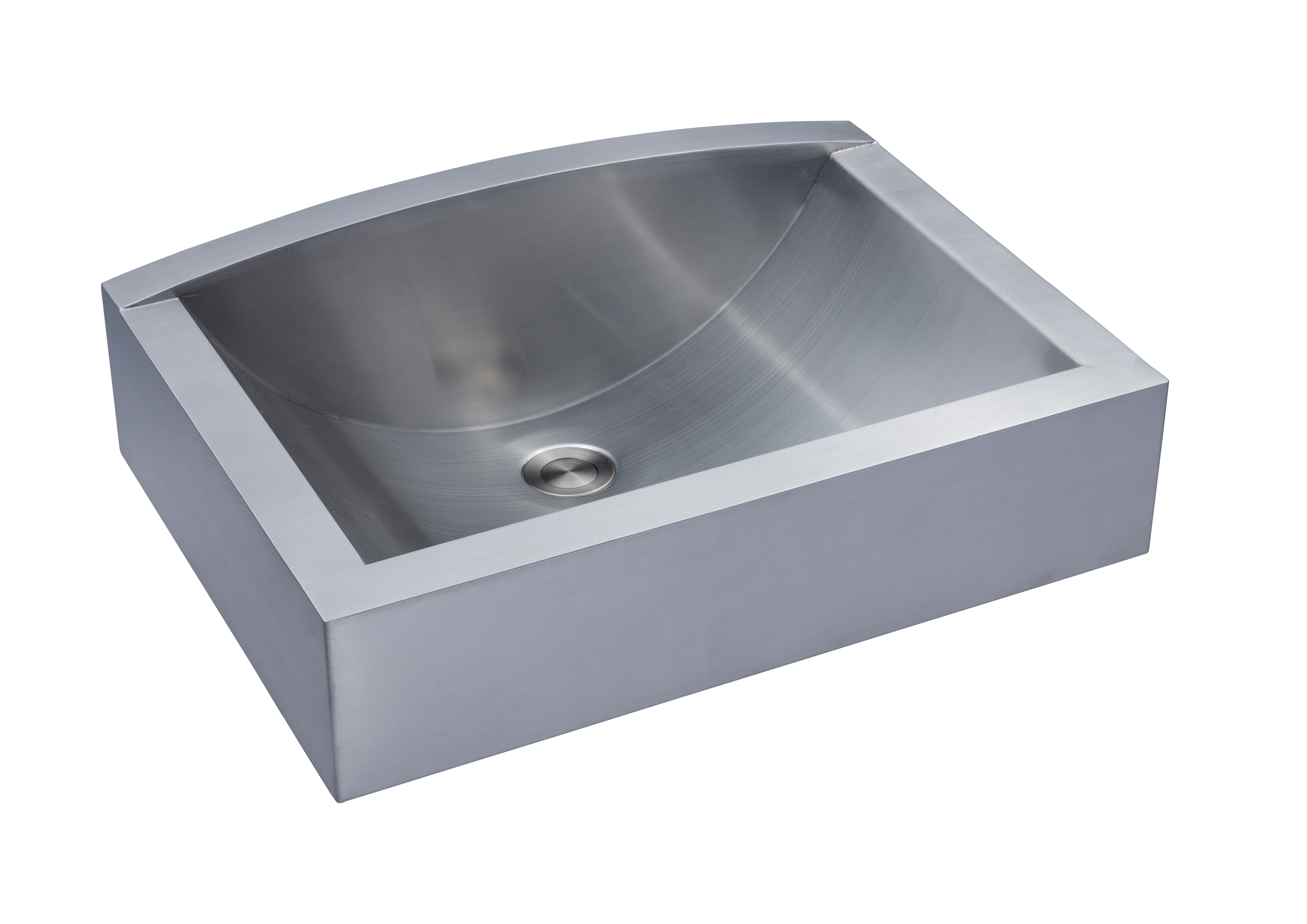 vessel ss sink as367 21   x 15   x 7 63   18g single bowl vessel legend stainless      rh   amerisink com