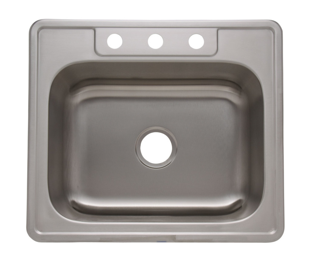 as1103 25   x 22   x 8   20g single bowl topmount builder stainless steel kitchen sink   amerisink as1103 25   x 22   x 8   20g single bowl topmount builder stainless      rh   amerisink com