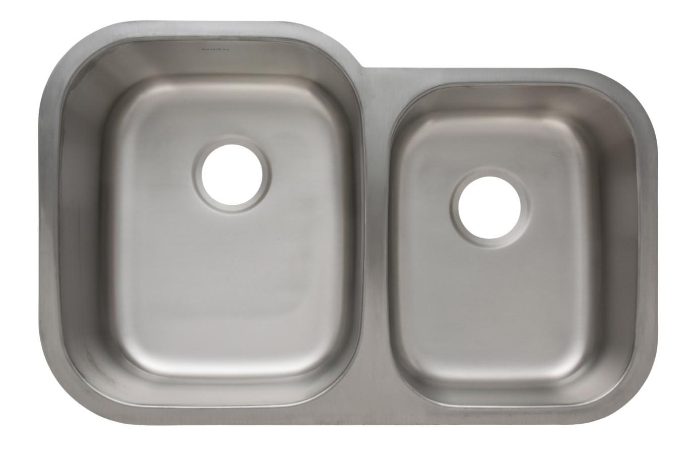 kitchen sink           as1206 32   x 21   x 5 4   5 4   18g double bowl undermount economy      rh   amerisink com