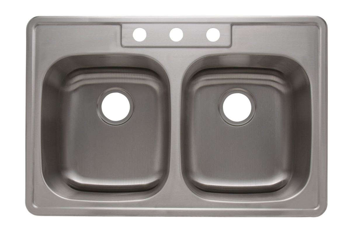 as1273 33   x 22   x 8   8   18g double bowl topmount economy stainless steel kitchen sink   need new pictures   amerisink as1273 33   x 22   x 8   8   18g double bowl topmount economy      rh   amerisink com