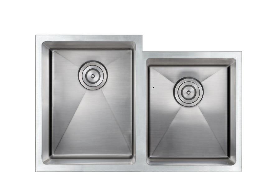 undermount ss kitchen sink as336 31   x 20   x 9   7   16g double bowl undermount legend      rh   amerisink com