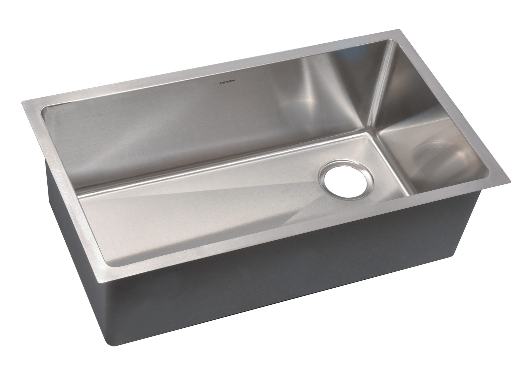 as361 3125 x 18 x 10 18g single bowl undermount legend stainless steel kitchen sink - Metal Kitchen Sink