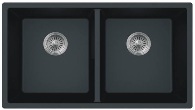 AS615 32 X 185 9 Double Bowl Undermount Granite Composite Kitchen Sink