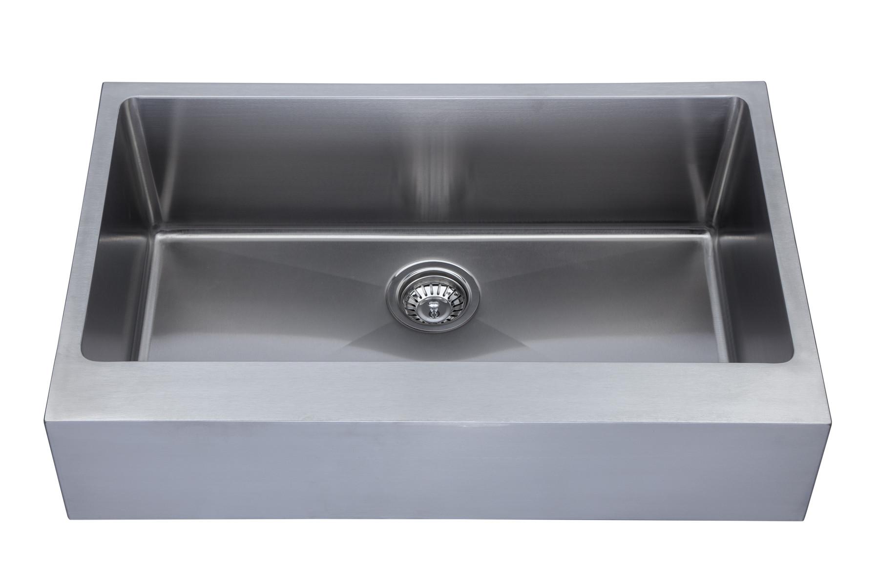 kitchen sink           as350a 31 25   x 20   x 9   18g single bowl apron legend stainless      rh   amerisink com