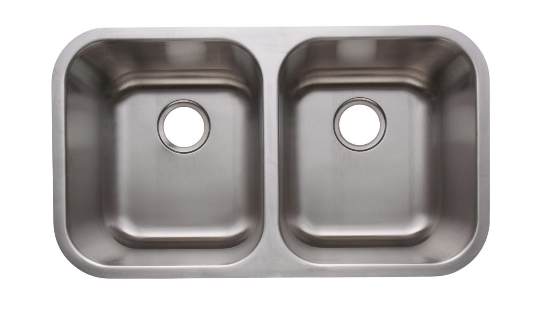 Merveilleux AS101 31u2033 X 18u2033 X 10u2033/10u2033 18G Double Bowl Undermount Deluxe Stainless Steel  Kitchen Sink
