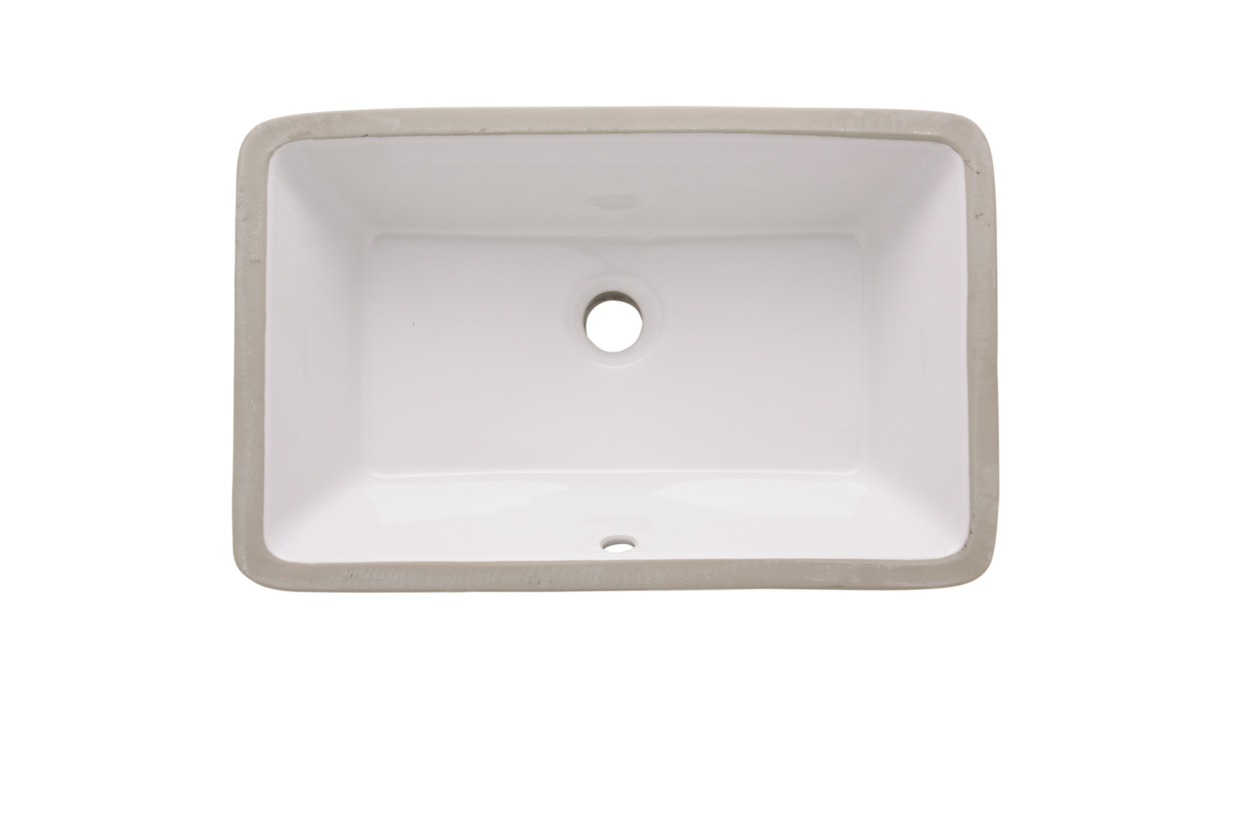 Rectangular Undermount Kitchen Sink Installed