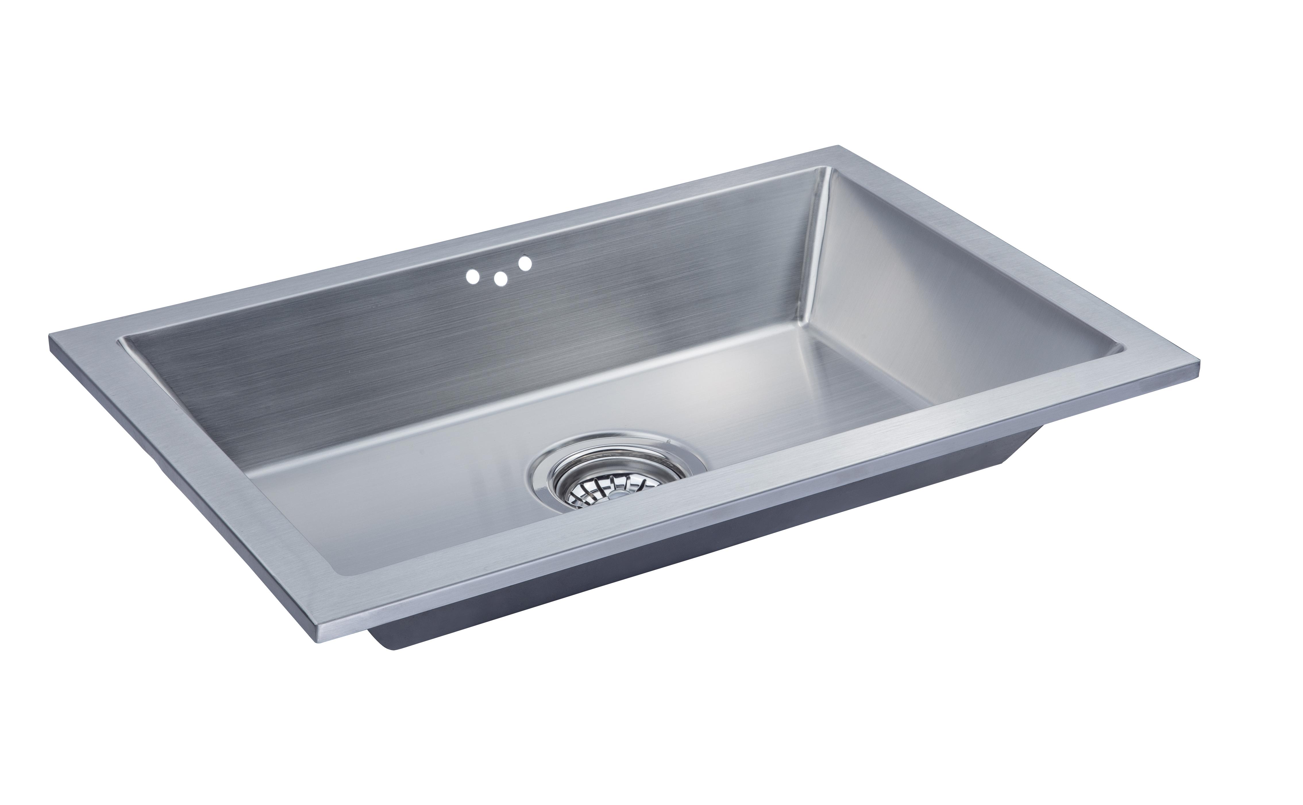 Delightful AS360 24u2033 X 15.63u2033 X 4u2033 18G Single Bowl Dual Mount Legend Stainless Steel Bathroom  Sink