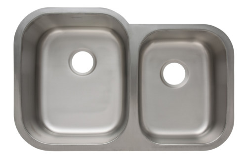 AS120 32u2033 X 21u2033 X 9u2033/7u2033 18G Double Bowl Undermount Economy Stainless Steel  Kitchen Sink