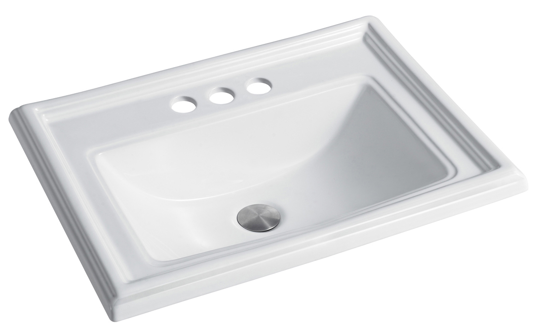 Topmount Porcelain Bathroom Sink