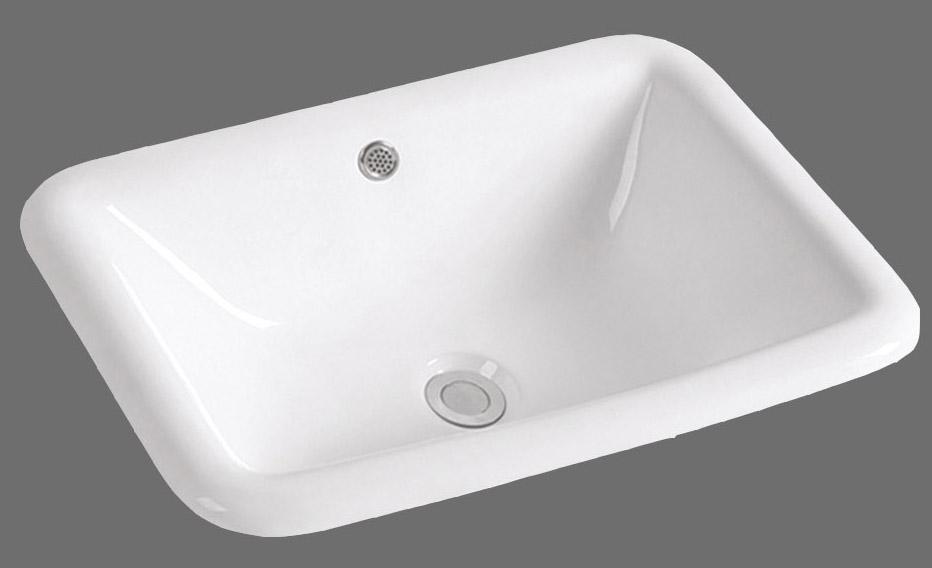 Topmount Porcelain Bathroom Sink