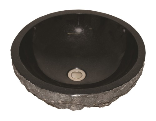 Natural stone archives amerisink as701b 17 x 17 x 55 absolute black vessel natural stone sink workwithnaturefo