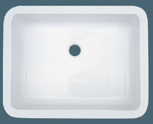 Exceptionnel AS503 18u2033 X 14u2033 X 5u2033 Single Bowl Undermount Solid Surface Acrylic Composite  Bathroom Sink
