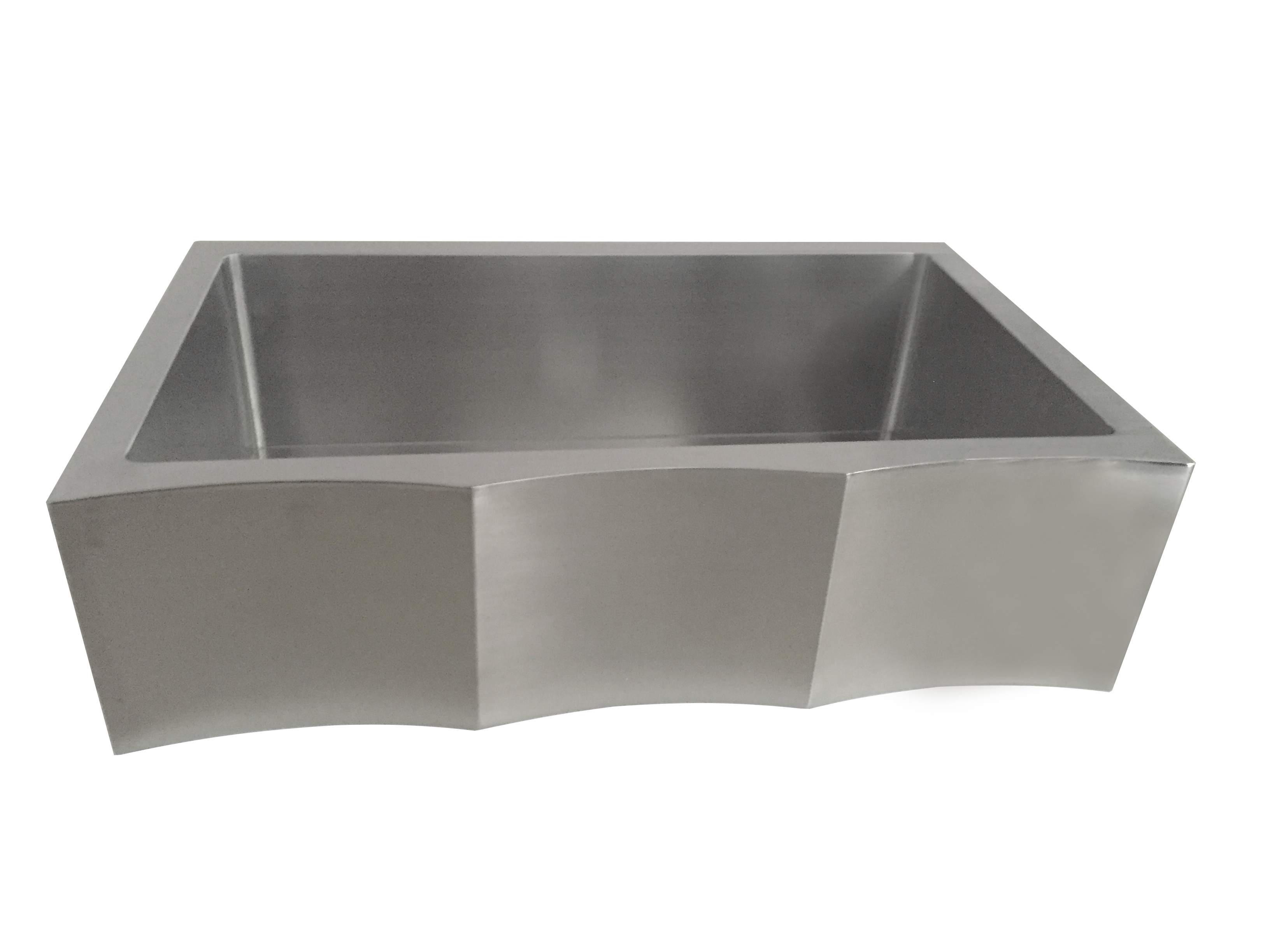 kitchen stainless steel sink as355 36 quot x 22 quot x 10 quot 18g single bowl apron legend 6124